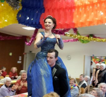 Zum Anlass des diesjährigen Senoiren-Faschings traten vom Faschingsclub Neuhausen, Prinzessin Petra II und Prinz Fabian I für uns auf