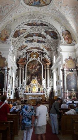 Innenansicht Der Kirche in Parrkirchen