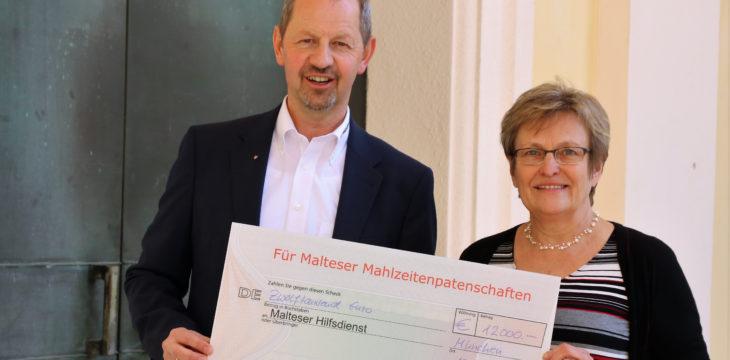 Große Spende für Mahlzeiten-Patenschaften zu Gunsten armer Münchner…